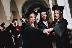 uniwersytet kampus giro rozochocony Świętowanie zdjęcia royalty free