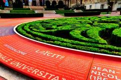 Uniwersytet Miasta Paryski pomnik Zdjęcie Royalty Free