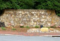 Uniwersytet Pólnocna Karolina przy kaplicy wzgórzem Fotografia Royalty Free