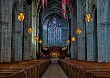 Uniwersytet Princeton kaplicy wnętrze Zdjęcia Royalty Free