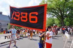 Uniwersytet Princeton 2015 P-rade obraz stock