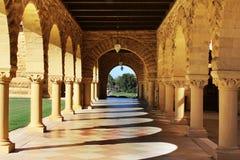 Uniwersytet Stanforda Kalifornia przy późnym popołudniem Obraz Royalty Free