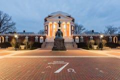 Uniwersytet Virginia, Charlottesville -, Virginia obrazy stock