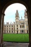 uniwersytet w oksfordzie Fotografia Stock