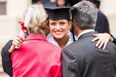 Uniwersyteta absolwenta rodzice Zdjęcia Royalty Free
