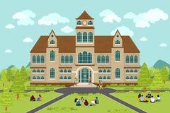 Uniwersyteta lub szkoły wyższa budynek ilustracji