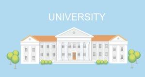 Uniwersyteta lub szkoły wyższa budynek Kampusu projekt, skalowanie uniwersytet, wektor Zdjęcia Stock