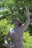 Uniwersyteta Teksańskiego członka zespołu statua Zdjęcie Stock