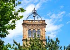 Uniwersyteta wierza w Barcelona Obrazy Royalty Free