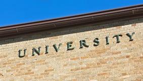 Uniwersyteta znak Fotografia Stock