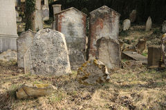 Unkempt graveyard or cemetery Royalty Free Stock Image