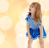 Unkempt little girl Royalty Free Stock Images