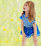 Unkempt little girl Stock Photography
