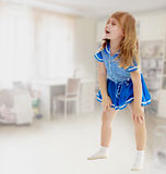 Unkempt little girl Stock Images