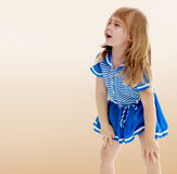 Unkempt little girl Royalty Free Stock Photo