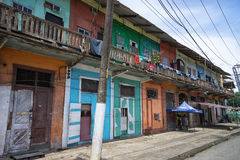 Unkept colourful colonial buildings Stock Photos
