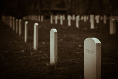 Unknown. The unknown souls of the Johnson Island Cemetary in Sandusky Bay Stock Photo