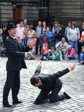 Unknown acrobats Stock Photo