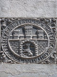 Unknown ancient coat of arms in Lviv, Ukraine Stock Photos