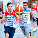 Unknown bascketball players Royalty Free Stock Photos
