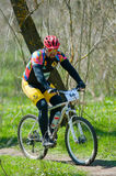 Unknown bike racer Stock Images