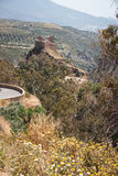 Unknown castle at the side of the road, Andalusia, Spain Royalty Free Stock Photos