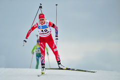 Unknown competitor in IBU Youth&Junior World Championships Biathlon Stock Images