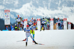 Unknown competitor in IBU Youth&Junior World Championships Biathlon Royalty Free Stock Photo