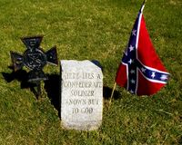 Unknown confederate soldier. Sick confederate soldier on way to gettysburg battle was left at holly inn in mount holly springs pa. and died without ID Stock Photos