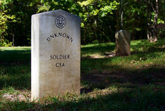 Unknown confederate soldier Stock Image