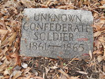 UNKNOWN CONFEDERATE SOLDIER Royalty Free Stock Photos