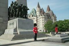 unknown för Kanada soldattomb arkivbild