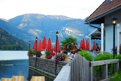 Unknown France. Quiet place somewhere in France. Peace, mountains, lake Stock Photo