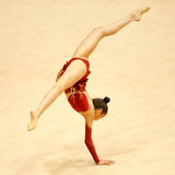 Unknown gymnast performs Royalty Free Stock Image