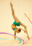 Unknown gymnast performs Stock Images