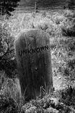 Unknown Headstone Grave Marker Stock Photos