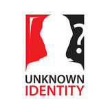 Unknown identity icon Stock Image