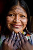 Unknown indigenous woman during a ritual in the Stock Photos