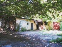 Unknown Kiev.Old yard in Podil, Kyiv, Ukraine, summer 2016.  Royalty Free Stock Photography