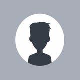 Unknown male silhouette Stock Photo