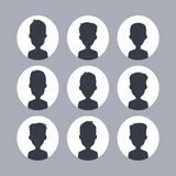 Unknown male silhouette Stock Images