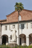 Unknown monk statue in the courtyard church of San Francesco, Lucca Royalty Free Stock Images
