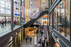 Unknown people in shopping mall `Forum`  in Duisburg, Germany Stock Photography