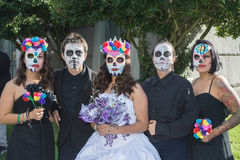 Unknown people at the 15th annual Day of the Dead Festival Royalty Free Stock Images