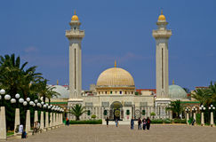 Unknown people are visiting Mausoleum of Habib Bourgiba stock images