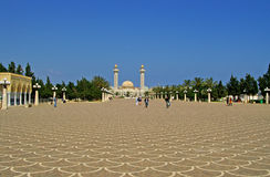 Unknown people are visiting Mausoleum of Habib Bourgiba Royalty Free Stock Photo