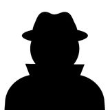 Unknown person. Vector clip art Royalty Free Stock Photo