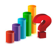 Unknown results business graph. Illustration Stock Photo