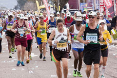 Unknown Runners Competing In Comrades Ultra Marathon Stock Images