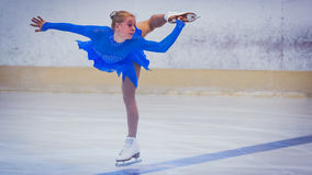 Unknown skater competing Stock Photo